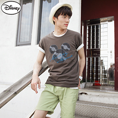 【迪士尼♥單件8折】迪士尼純棉/情侶系列~米奇創意唱片頭像T恤‧男3色