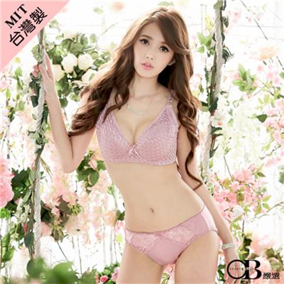 復刻優雅~立體全罩杯蕾絲內衣•台灣製•2色(D-E)