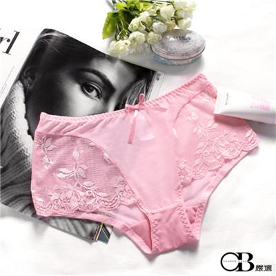 粉紅佳人~立體蕾絲內褲