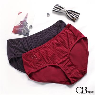 0210新品【特價款】都會風情~直條水鑽內褲‧2色