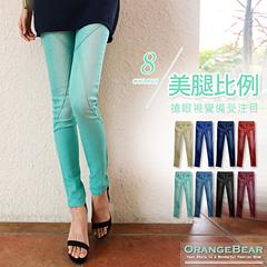 美腿比例~嚴選立體剪裁刷白丹寧窄管褲‧8色