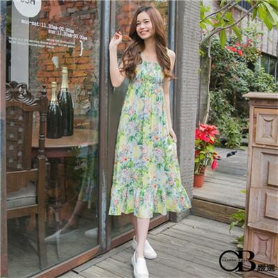 【OB嚴選】0302新品 親子裝系列~繽紛印花細肩綁帶連身長洋裝‧2色 - Pingle 購物搜尋比價