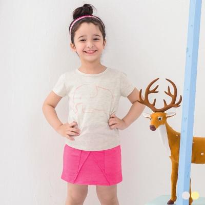 0316新品 童趣俏皮~手繪小象色彩圖案T恤‧童2色