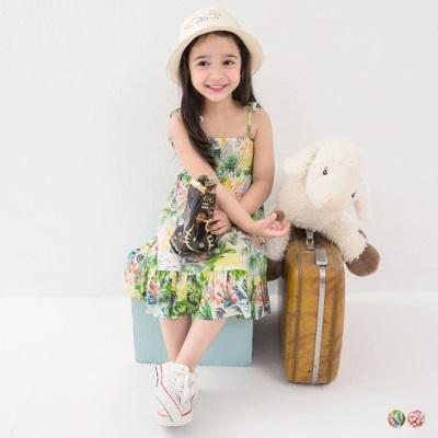 【OB嚴選】0302新品 親子裝系列~繽紛印花細肩綁帶連身長洋裝‧童2色 - Pingle 購物搜尋比價