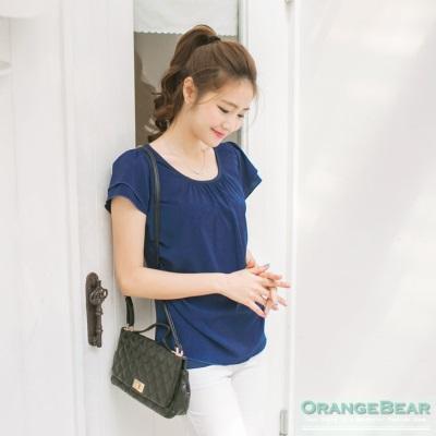 0425新品 美人氣質~打摺雙層造型袖單面雪紡拼接上衣•8色