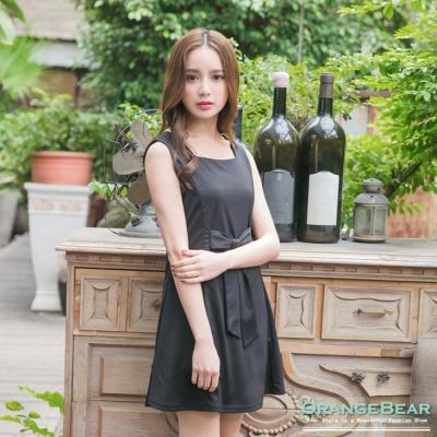 【好感洋裝♥2件68折】優雅姿態~素色公主線剪裁蝴蝶結裝飾長版上衣.3色