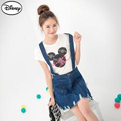 【迪士尼♥單件8折】迪士尼純棉/情侶系列~米奇創意唱片頭像T恤‧女3色
