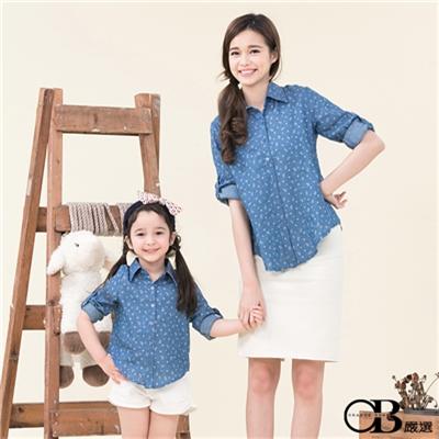 0616新品 親子裝系列~變形蟲圖樣印花襯衫•童2色
