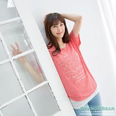 0703新品 清新視覺~兩件式鏤空英文燙印X羅紋內搭長版上衣.2色