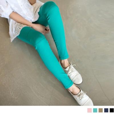 0604新品 零著感~舒適好動機能切線棉質窄管褲‧6色