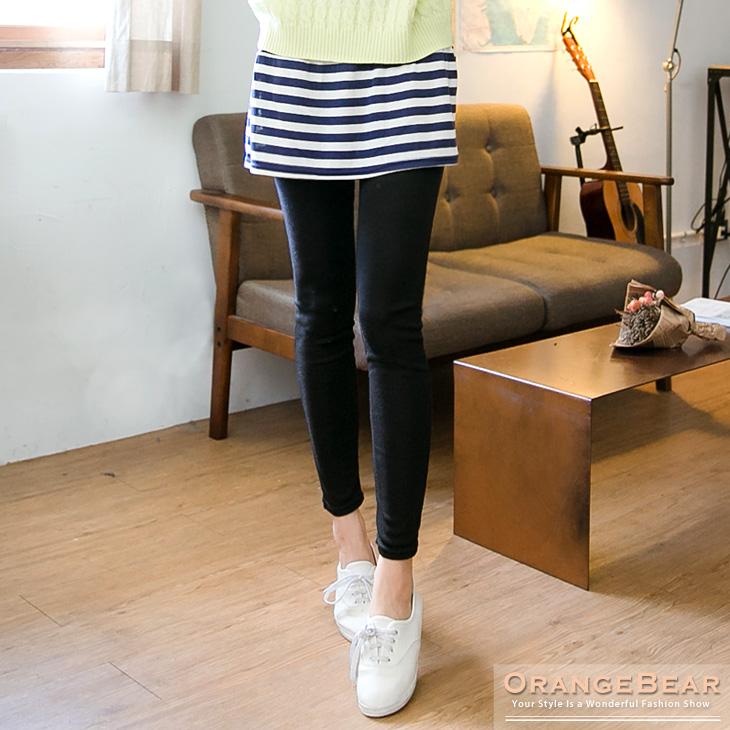 0511新品 清新品味~條紋抽褶小短裙假ob嚴選 model兩件內搭褲.2色