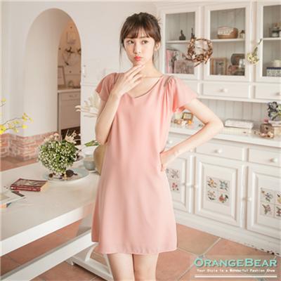 【好感洋裝♥2件68折】高貴簡約~素色質感面料金屬肩飾長版上衣.2色