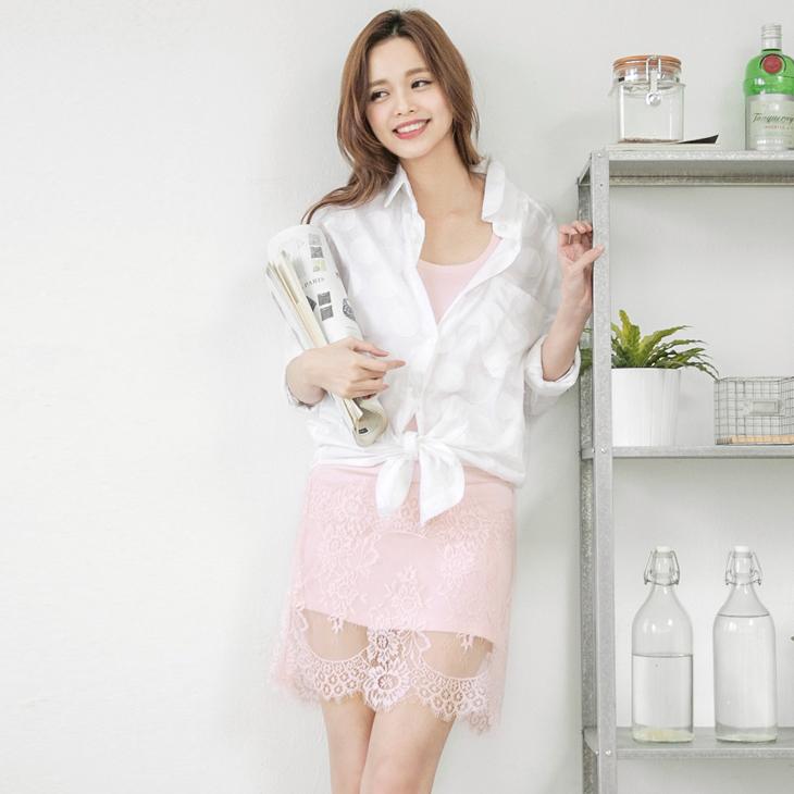 0506新品 輕柔細膩~素色蕾絲下襬無袖內搭洋裝.4色
