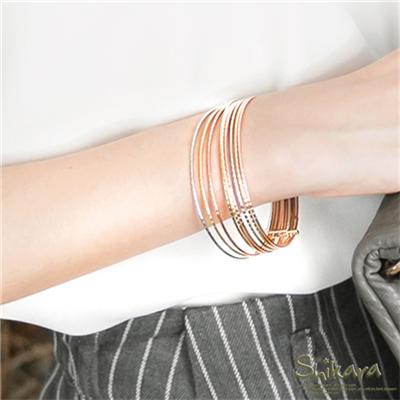 0421新品 貴氣lady~金屬光感多圈式手環.1色