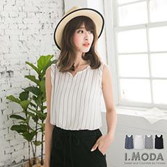 0529新品  輕熟氛圍~多種花色輕薄長版反折袖背心.4色