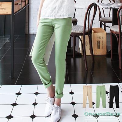 0608新品 優雅美型~素色立體剪裁雙玉邊口袋長褲.3色