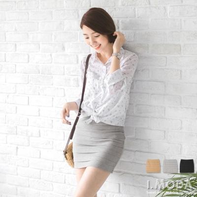 0730新品 多變風格~多層次感造型貼身包臀短裙.3色