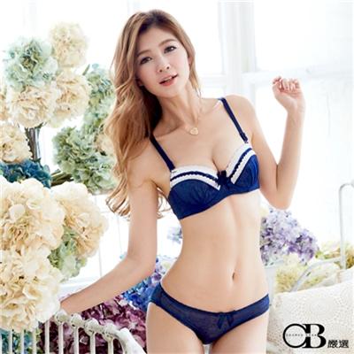 日系甜心~3/4罩蕾絲花邊成套內衣組‧6色(B-C)