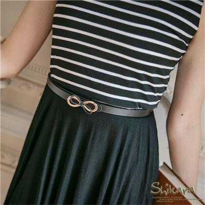 0526新品【特價款】甜心搶眼~金屬層次感蝴蝶結皮帶.3色