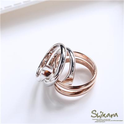 0608新品【特價款】品味不凡~簡約時尚風流線型戒指.2色
