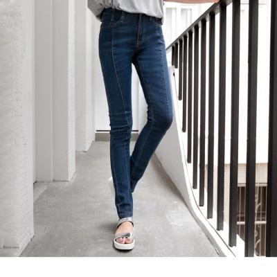 0420新品 迷人長腿~立體剪裁修身美型牛仔窄管長褲
