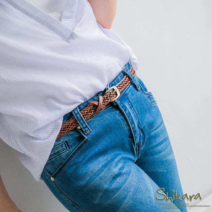 0629新品 風尚魅ob 嚴 選 門市力~素色鏤空編織皮帶.4色