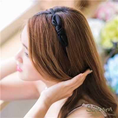 甜美時尚~素色蝴蝶結造型细髮箍.3色