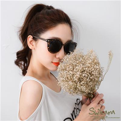 0617新品 女神魅力~磨砂感金屬粗框太陽眼鏡.2色