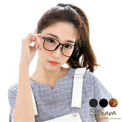 0617新品【特價款】潮流必備~個性金邊壓紋時尚方框眼鏡.3色