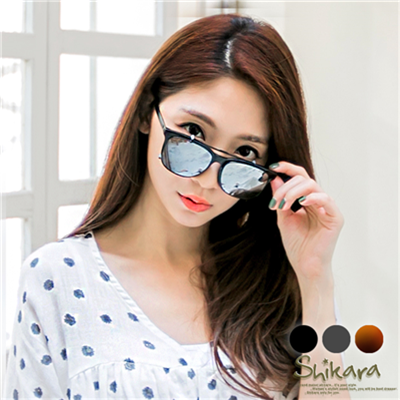 0701新品【特價款】文青女孩~可拆前掛式膠框太陽眼鏡.3色