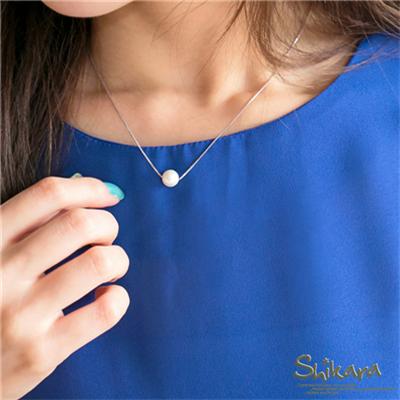 0713新品 端莊雅致~極簡氣質感單珍珠短項鍊
