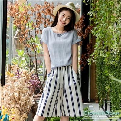 【春夏斷碼♥2件59折】清秀素雅~簡約純色圓領反摺連袖上衣.2色