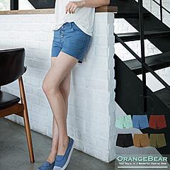 0716新品 人氣大作~鉚釘裝飾排釦造型嚴選牛仔短褲‧6色