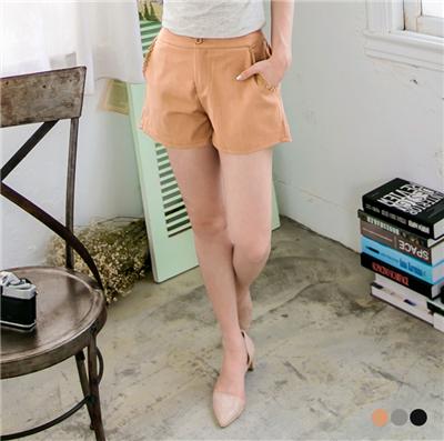 【春夏斷碼♥2件59折】甜意滿分~質感布蕾絲花邊短褲.3色