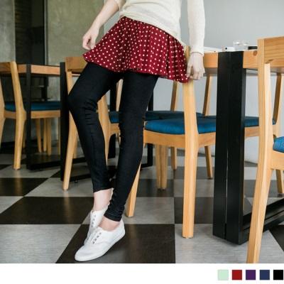 0318新品 假兩件式點點小圓裙內搭褲.5色