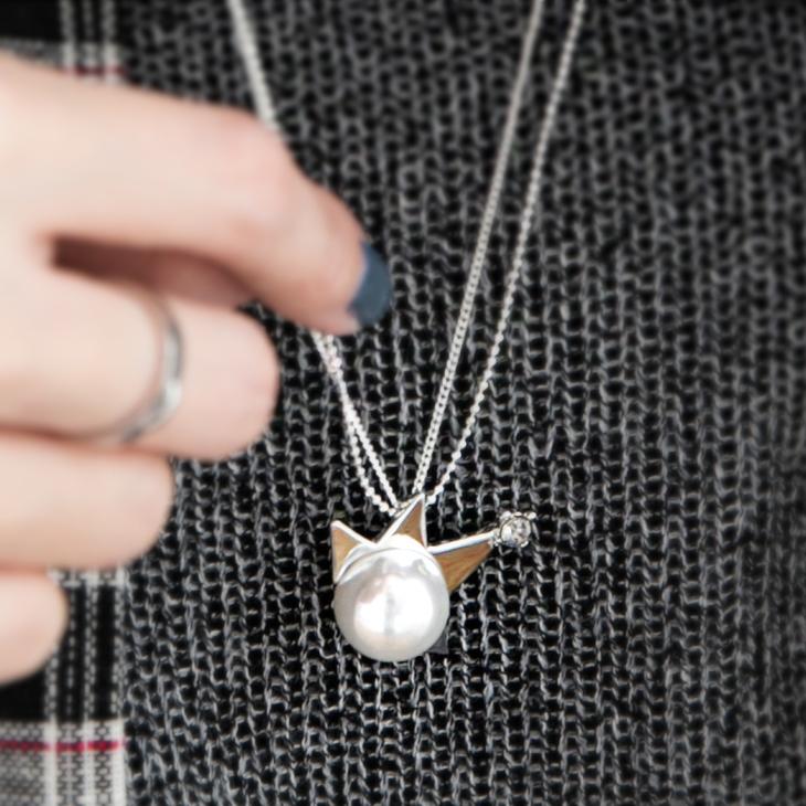 【特價款】 不對稱造型mix單顆珍珠項鍊