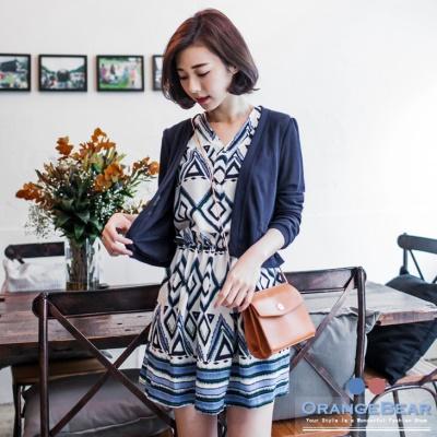 1023新品 兩件式質感小外套X幾何圖騰洋裝.2色