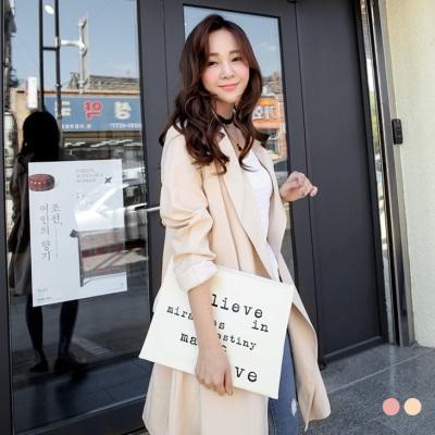 粉嫩色微彈修身剪裁長版西裝外套.2色