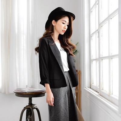 0503新品 老師傅系列台製嚴選黑色西裝外套
