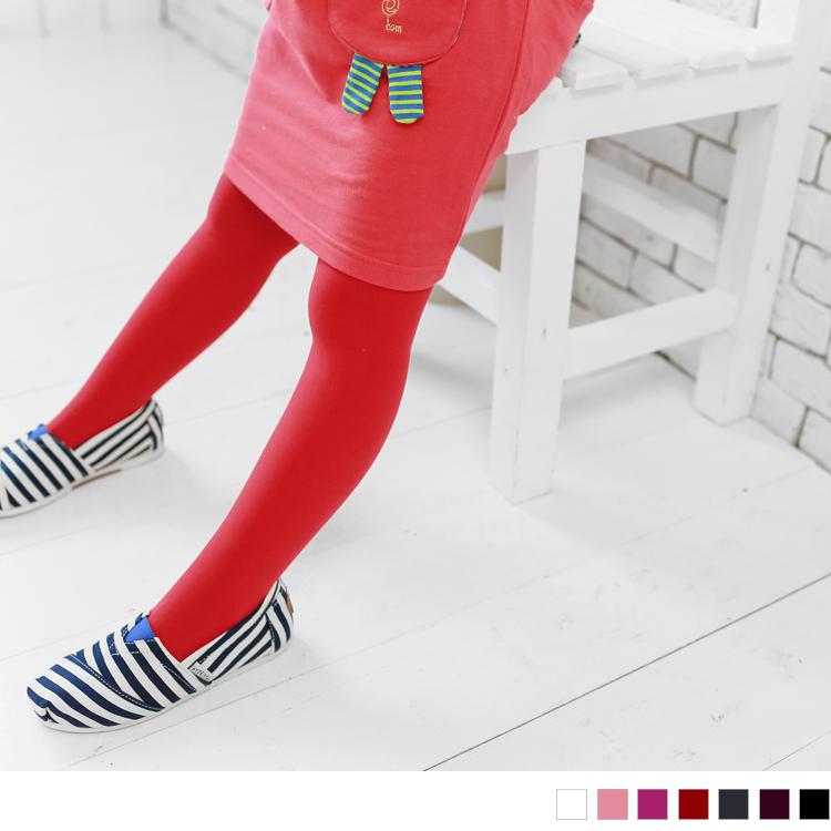 0425新品 【特價款】 可愛小寶貝~亮眼彩色兒童素面褲襪?7色