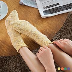 0412新品 【特價款】  質感混紗糖果色針織襪.4色
