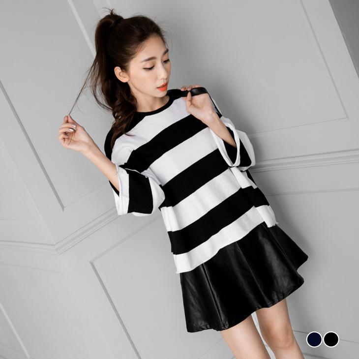 022ob嚴選品質6新品 個性百搭風拉鍊傘擺皮裙.2色