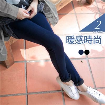 親子裝系列~超溫暖內刷毛仿牛仔長褲‧女2色