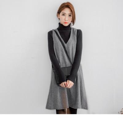 1209新品 嚴選質感織紋腰身設計背心洋裝