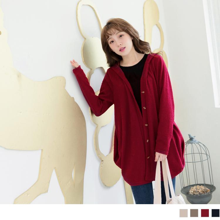 0530新ob嚴選官網品 質感面料打褶下襬連帽長版外套.3色