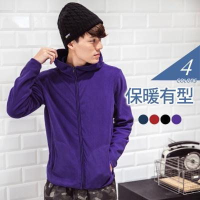 1021新品 保暖Fleece系列~繽紛多色連帽外套•男4色
