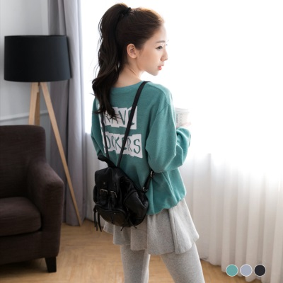 0122新品 韓系寬鬆感背後字母燙印休閒上衣.3色