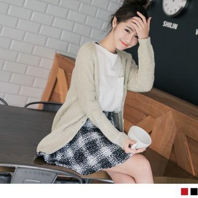 1214新品 混色溫暖毛呢圓襬格紋短裙.2色