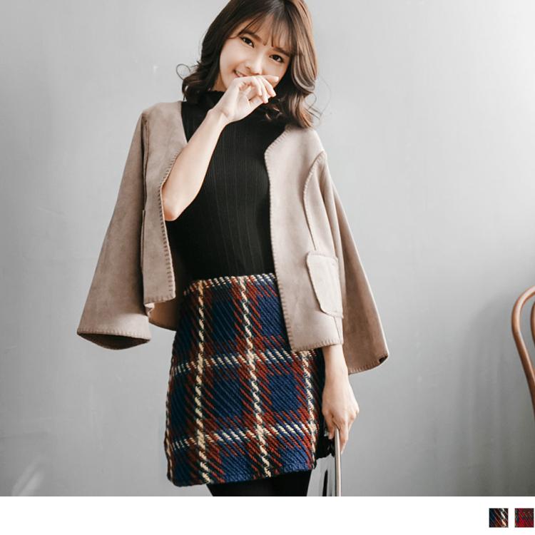 12ob 退款14新品 麻花編織側拉鍊魚尾短裙.2色