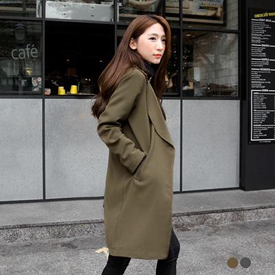 典雅單釦長版西裝外套.2色
